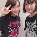 【モーニング娘。】川村かわむー「今日のハロコンのリハーサルで 森戸知沙希さんが BABYMETALさんのTシャツ着てたので 写真撮ってもらいました!!!」