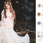 【モデル】【芸能】中村雅俊の娘の中村里砂が美脚を披露 30歳のツインテ姿に「天使」