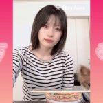 【つばきファクトリー】すっぴんの浅倉樹々ちゃんがどん兵衛旨辛チゲうどんミニを作って食べるだけの動画(チャーリーもいるよ)
