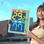 【タレント】【悲報】汗だくで天気を伝えるお天気お姉さんがエッチww