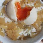 【VIP・なんj】ワイの夜食「玉ねぎと煮卵かけご飯」がうますぎると話題に