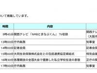 大阪府HP松井知事 本日の主な予定【NMBとまなぶくん】