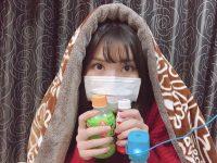 家族がインフルエンザにかかった福岡聖菜さんの予防姿をご覧ください【福岡聖菜】