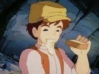 ラピュタの洞窟でパンの上の目玉焼きだけ先に食べちゃうシーンwwwwww【アニメ】