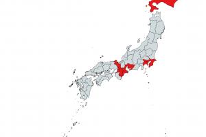 【画像】コロナウイルス感染者が確認された都道府県がこちらwwww